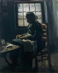 Dezső Anna Zanami szomorúság, düh, varrónő kép: V.V. Gogh Varrónő